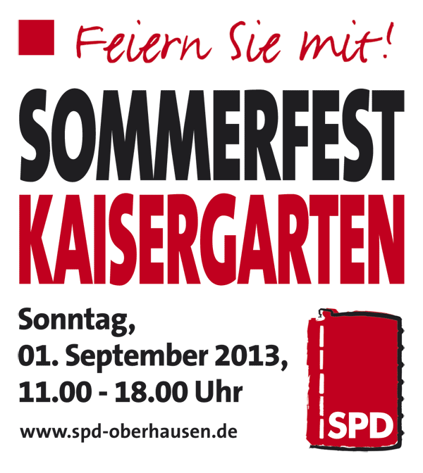 Banner: SPD-Sommerfest 2013