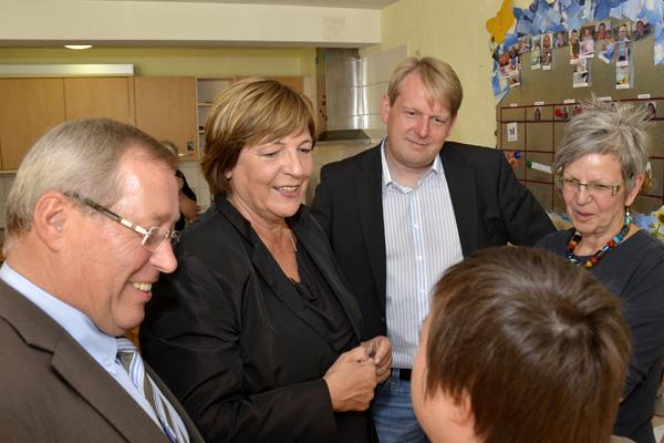 Ulla Schmidt und Dirk Vöpel bei der Lebenshilfe
