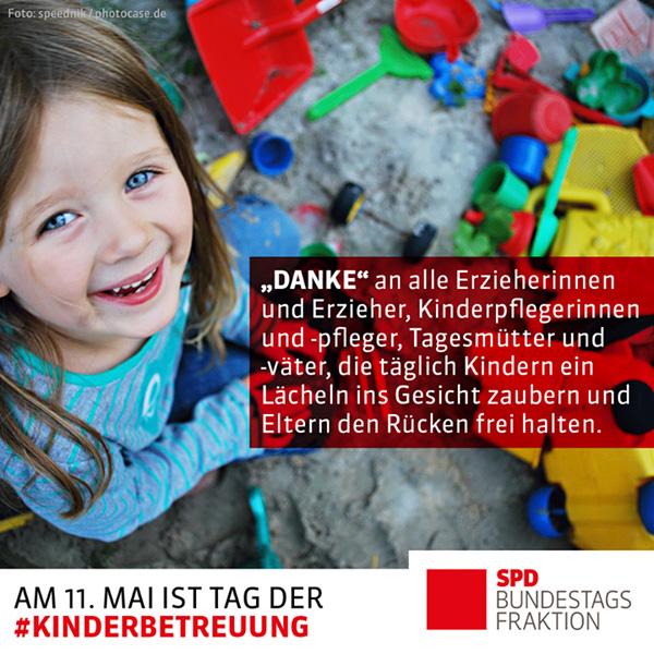 Am 11. Mai ist Tag der Kinderbetreuung